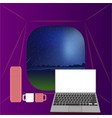 from the tent night landspcape vector image vector image
