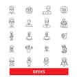 geeks nerd clever inteliigent smart expert vector image