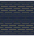 geometric seamless horizontal dash pattern vector image