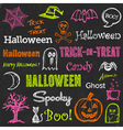 Halloween hand-drawn elements vector | Price: 1 Credit (USD $1)