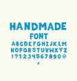 handmade font vector image vector image