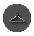 hanger icon wardrobe hanger flat with long shadow vector image vector image