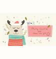 happy holidays warm wishes creative hand drawn vector image