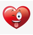 Heart shape cartoon vector image