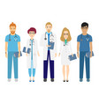 hospital medical staff team doctors nurses surgeon vector image vector image