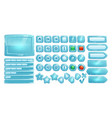ice buttons for ui game gui elements vector image
