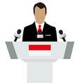 Indonesia flag speaker vector image vector image