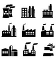 industrial buildings power plants and factory vector image vector image