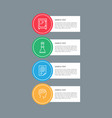 infographic elements circular vector image vector image