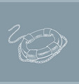 lifebuoy sketch hand drawn vector image vector image
