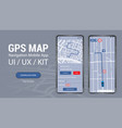 map gps navigation uiuxkit mobile app vector image