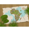 map jungle africa cartoon treasure hunter vector image vector image