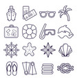 marine set of icons icons isolated on vector image vector image