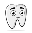 nice tooth character tooth for vector image