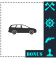 passenger car icon flat vector image vector image
