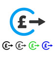 pound cash out flat icon vector image vector image