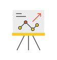 presentation graph report of company icon vector image