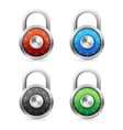 Security Concept padlock set vector image vector image