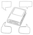 set of book and speech bubble vector image vector image