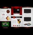 set of casino design elements vector image vector image