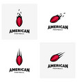 set of modern professional american football logo vector image vector image