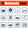Set of multimedia icons vector image vector image