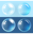 Set of transparent bubbles vector image