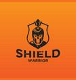 shield spartan warrior logo design inspiration vector image vector image
