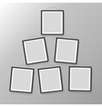 Six wooden black photo picture frames vector image vector image