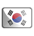 south korea flag on white background vector image vector image