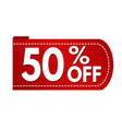 special offer 50 off banner design vector image vector image