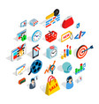 technical trifle icons set isometric style vector image vector image
