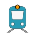 train frontview icon vector image vector image