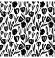 tulips hand drawn seamless pattern vector image