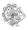 turkey illustration vector image vector image