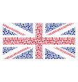 uk flag mosaic of wmd nerve agent chemical warfare vector image vector image