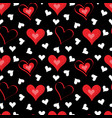 valentines day romantic hearts seamless pattern vector image vector image