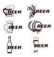 vintage elements of the beer menu set vector image vector image