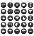 weather icons set vetor black vector image