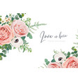 wedding floral invite card greeting banner poster vector image vector image
