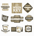whiskey and scotch production factory or brewery vector image vector image