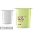 white yogurt pot template vector image vector image