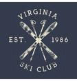Winter Sports Ski Club Label Vintage Mountain vector image vector image