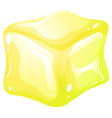 Yellow ice cube vector image vector image