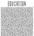 Hand drawn School education seamless pattern vector image