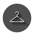 hanger icon wardrobe hanger flat with long shadow vector image