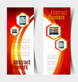 abstract banners set vector image vector image