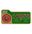 american style roulette wheel and table vector image vector image