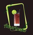 americano cocktail vector image vector image