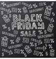 Black Friday Sale Background on Dark Chalkboard vector image